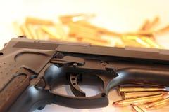 De misdaad van het kanon Stock Foto's