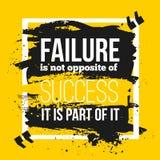 De mislukking is een deel van succes royalty-vrije illustratie