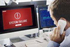 De mislukking viel Binnendrongen in een beveiligd computersysteem Virusabend Concept aan royalty-vrije stock afbeeldingen