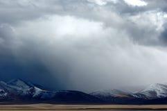 De mist en de wolken over Plateau Stock Fotografie