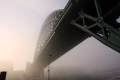 De mist op de Tyne Stock Afbeeldingen
