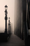 De mist op de Tyne stock afbeelding