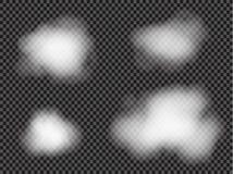 De mist of de rook isoleerde transparant speciaal effect Witte vectortroebelheid, mist of smogachtergrond Vector illustratie vector illustratie