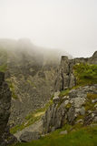 De mist van de berg royalty-vrije stock foto
