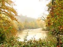 De mist van de herfst Stock Foto