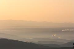 De mist van de zonsopgang Royalty-vrije Stock Fotografie