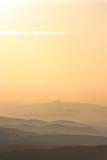 De mist van de zonsopgang Royalty-vrije Stock Foto's