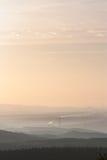 De mist van de zonsopgang Stock Foto's