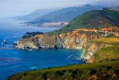 De mistige kust van Californië Royalty-vrije Stock Afbeeldingen