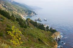 De mistige kust van Californië Royalty-vrije Stock Fotografie