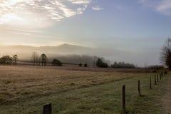 De mistige ochtend van de cadesinham in groot rokerig bergen nationaal park royalty-vrije stock afbeeldingen