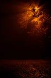 De mistige straat van de nacht Stock Foto's