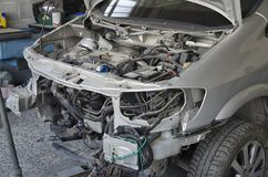 De misvormde carrosserie van a incidented auto royalty-vrije stock fotografie
