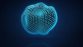 De misvormde cluster van 3D gebieden geeft terug Stock Fotografie