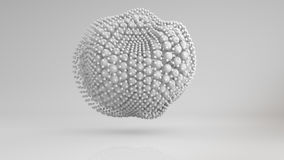 De misvormde cluster van witte 3D gebieden geeft terug Stock Foto