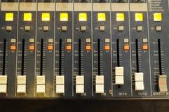 De mixer van de muziek Stock Foto's