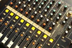 De mixer van de muziek Stock Afbeelding