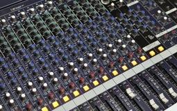 De mixer van de muziek Stock Foto