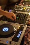 De mixer van DJ op club royalty-vrije stock fotografie
