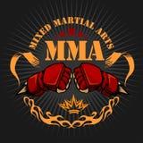De MMA gemengde kentekens van het vechtsportenembleem Royalty-vrije Stock Foto