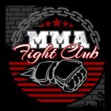 De MMA gemengde kentekens van het vechtsportenembleem Royalty-vrije Stock Fotografie