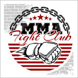 De MMA gemengde kentekens van het vechtsportenembleem Stock Afbeeldingen
