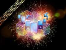 De mobiele Achtergrond van de Telefoon Stock Foto