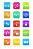 De mobiele geplaatste pictogrammen van de telefooninterface Royalty-vrije Stock Afbeeldingen