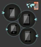 De mobiele illustratie van de telefoontechnologie stock illustratie