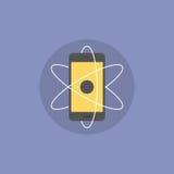 De mobiele illustratie van het innovaties vlakke pictogram Stock Fotografie