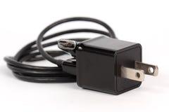 De mobiele kabel van de telefoonlader Stock Fotografie