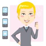 De mobiele Mens van de Telefoon Stock Afbeeldingen
