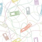 De mobiele Naadloze Textuur van Telefoons Royalty-vrije Stock Foto