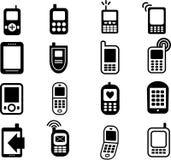 De mobiele Pictogrammen van de Telefoon vector illustratie