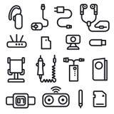 De mobiele pictogrammen van het telefoonconcept Stock Afbeelding