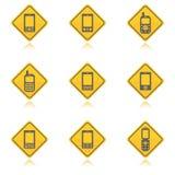 De mobiele reeks van het telefoonpictogram Stock Fotografie