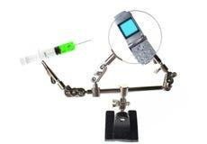 De mobiele technologie van het contante geld Stock Foto