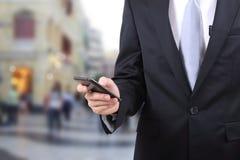 De mobiele telefoon van de mensenaanraking Royalty-vrije Stock Foto's