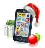 De Mobiele Telefoon van Kerstmis royalty-vrije illustratie