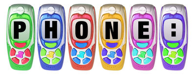 De Mobiele Telefoons van het stuk speelgoed royalty-vrije stock afbeeldingen