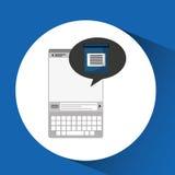 De mobiele test van de apparatengezondheidszorg examen Royalty-vrije Stock Fotografie