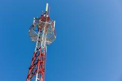 De mobiele toren van het telefoonbasisstation Royalty-vrije Stock Foto