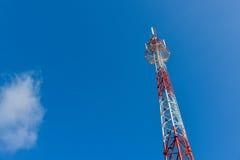 De mobiele toren van het telefoonbasisstation Stock Afbeelding