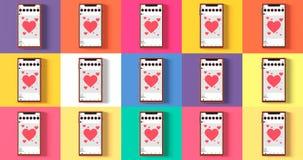 De mobiele van het het malplaatje Sociale netwerk van de prototype vlakke stijl postinterface app stock fotografie