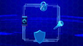De mobiele veiligheid van het de irisaftasten van de apparatenvingerafdruk, digitale technologiegegevensbescherming vector illustratie