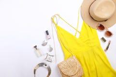 De moda modernos buscan el lookbook elegante del blog de la moda Endecha plana de la ropa elegante para la revista de la mujer Li imagenes de archivo