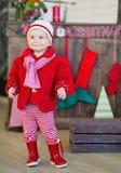 De moda vestida niña en rojo Fotografía de archivo libre de regalías