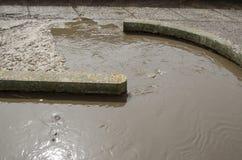 De modder van het rioleringswater regelt mechanismeinstallatie royalty-vrije stock afbeeldingen