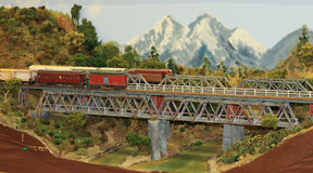 De model Vertoning van de Spoorweg Royalty-vrije Stock Afbeeldingen