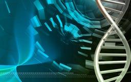 De modelachtergrond van DNA Royalty-vrije Stock Foto